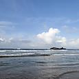 21朝の海