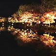 15東寺 池に映る紅葉