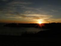 ナセル湖の夕焼け