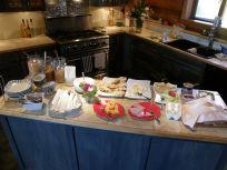 朝食のカウンター