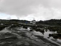 クケナン・テプイに着陸したヘリ