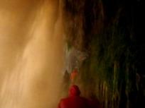 サポの滝の裏