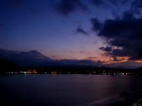 夕空と富士
