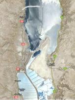 死海の地図