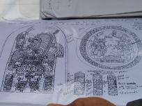 祭壇と石碑