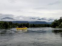 ボートと山