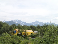 昼食のテント