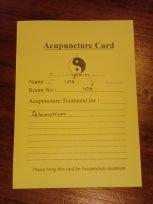 鍼のカード