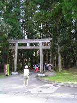 熊野本宮大社裏手