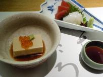 ゴマ豆腐とお造り