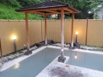 前日夕方の露天風呂