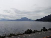 車窓の桜島