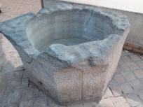 中庭のタンク