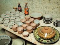 釉薬をかける前のお皿