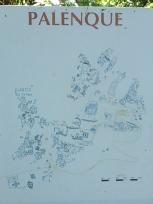 パレンケ遺跡の地図