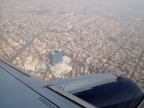メキシコシティ上空