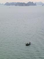 ハロン湾と船