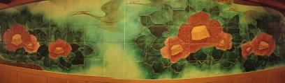 九谷焼「刻彫椿」