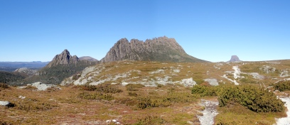 クレイドル山とバーンブラフ山