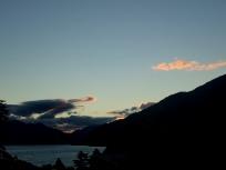 ホテル前からの夕景