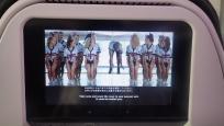 機内安全設備のビデオ