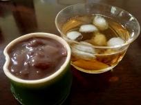 水羊羹と麦茶